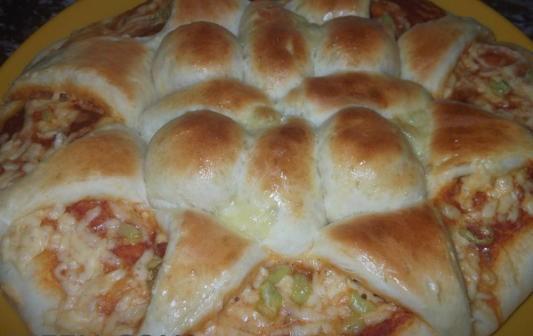 بيتزا الوردة