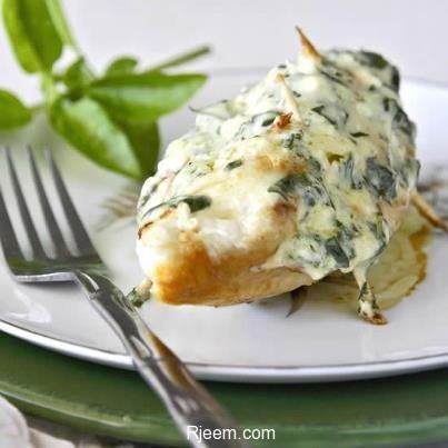 دجاج بالريحان و الجبن