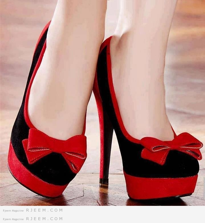 احذية روعة باللون الاحمر من بريق الرعد 25.jpg