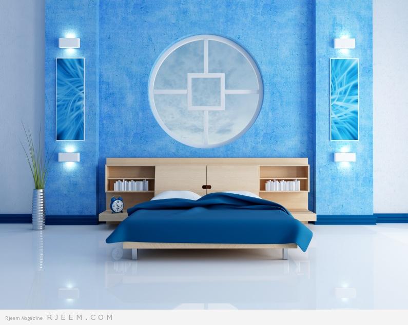 ديكورات غرف نوم زرقاء رائعة | مجلة رجيم