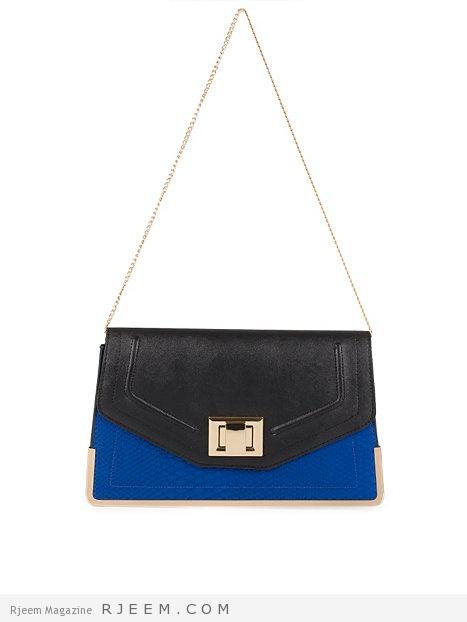 حقائب يدوية زرقاء اللون روعه