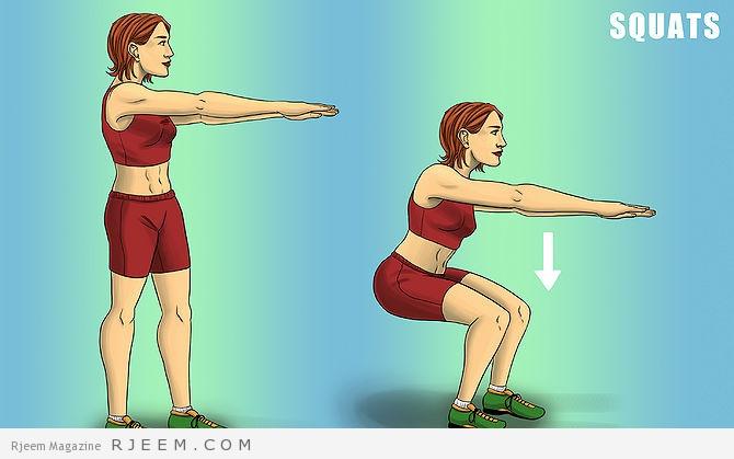 الخطة الرباعية لحرق الشحوم عضلة البطن
