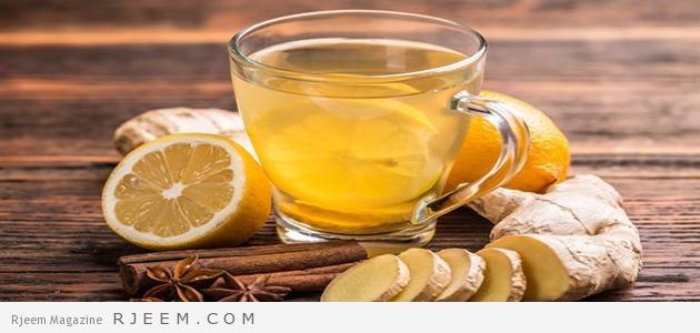 الزنجبيل والليمون لحرق الدهون