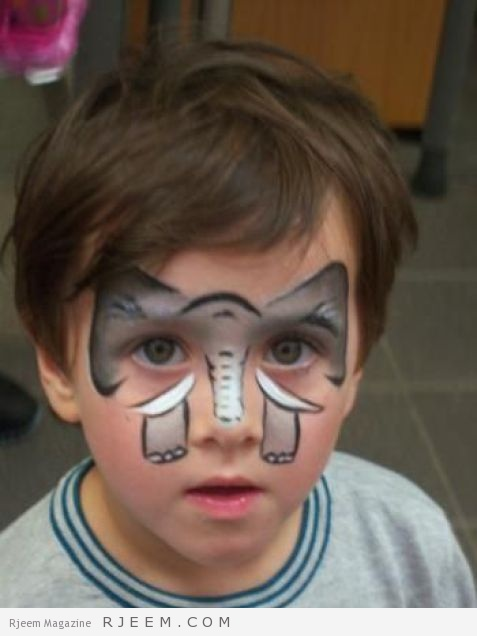 Elephant face paint,AT LAST A GOOD ONE!!! THANK YOU!!: