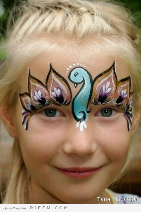Bird mask. Face paint by Tanya Maslova.: