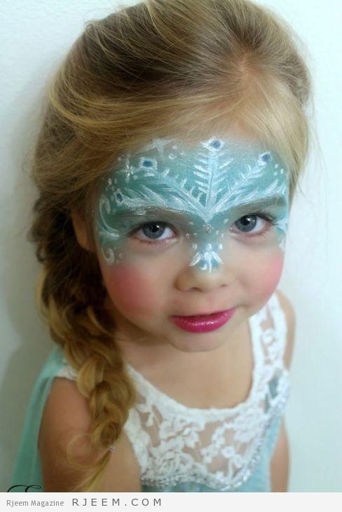 "Halloween Makeup and Hair - Disney's Frozen ""Elsa"" - Snowflakes - Ice Queen - Braid:"