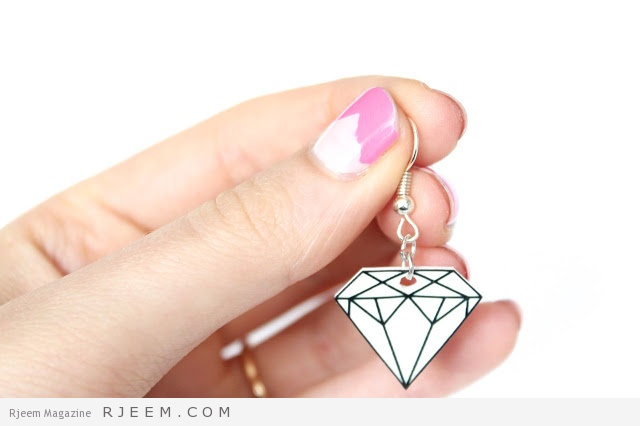 diy shrinky dink diamond earrings