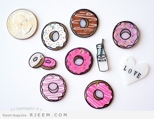 Shrinky Dink Shrink Plastic Donut Charms