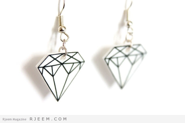 shrinky dinky diamond earrings diy tutorial