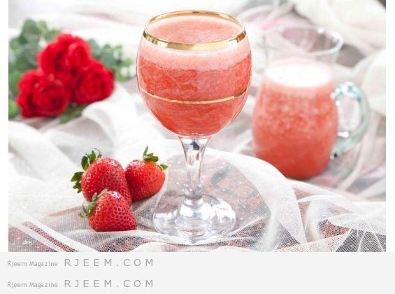 طريقة عمل عصير الفراولة بالزبادي دايت