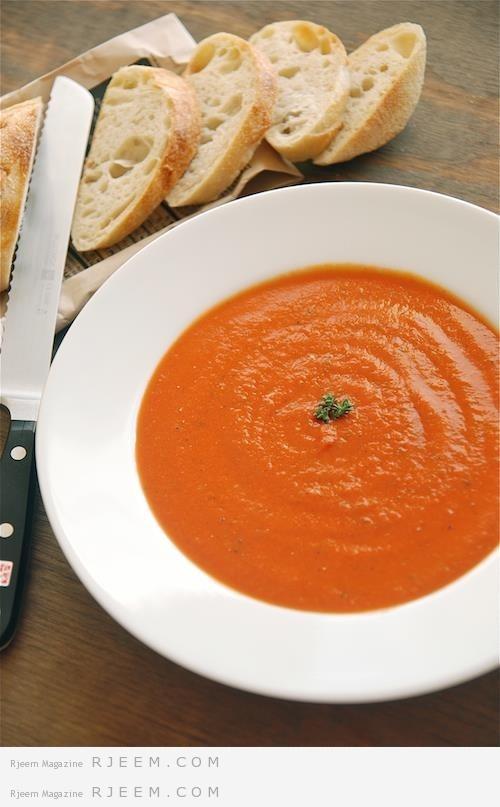 Photo of شوربة الطماطم المشوية