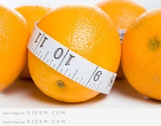 اخسر 5 كيلو من الشحوم مع رجيم البرتقال في اسبوع