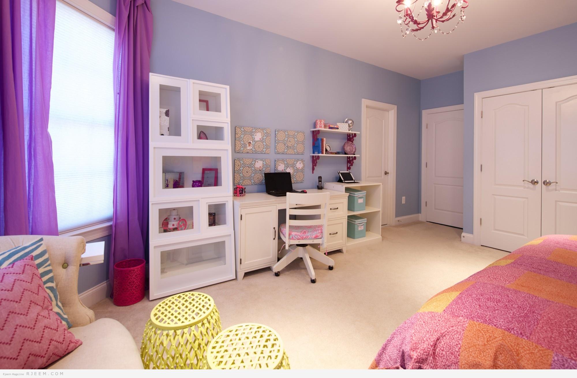 ديكور غرفه نوم بألوان صيفية 2014