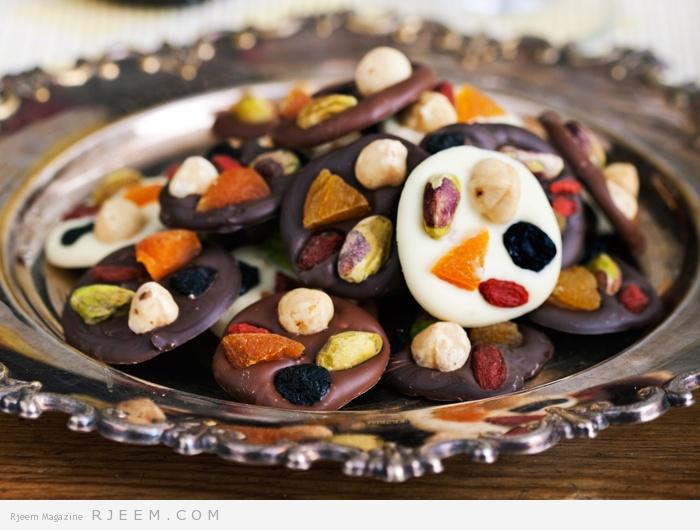 Photo of حلوى الفاكهه بالشوكولا