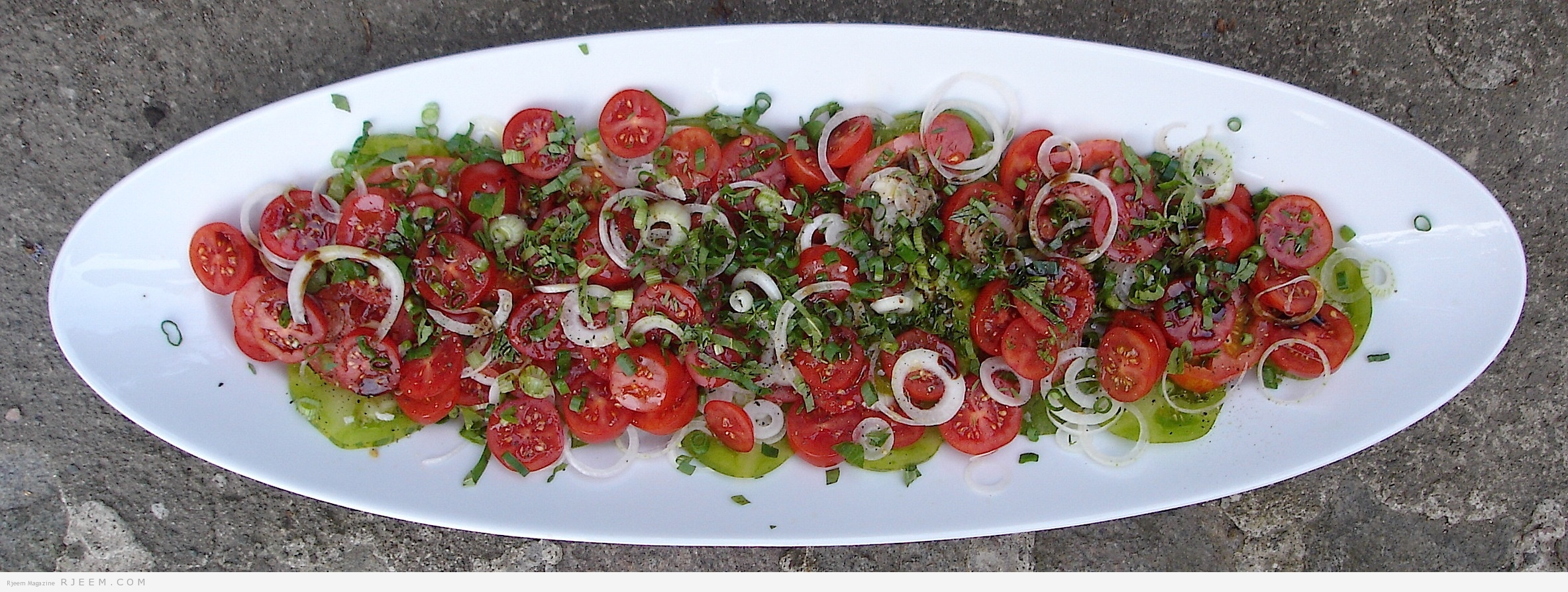 Photo of سلطة الطماطم مع الجرجير