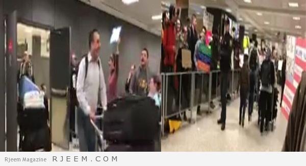 Photo of شاهد: فرحة عارمة في مطار دالاس فورت بعد السماح بدخول اللاجئين الى أمريكا رغم قرار ترامب بمنعهم