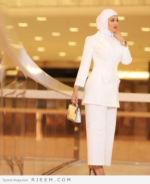 Photo of اللون الأبيض يطغى على ملابس المحجبات لهذه السنة