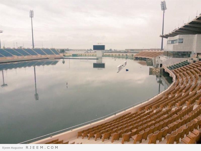 Photo of المسابقات نقلت المباريات للدمام.. شاهد كيف أثرت الأمطار على ملعب الراكة بالخبر