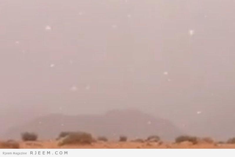 Photo of فيديو: ثلوج خفيفة تغازل مرتفعات تبوك والأجواء شديدة البرودة