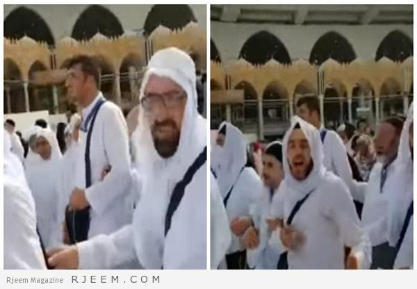 Photo of فيديو: تصرف غريب لمجموعة من الزوار وهم يطوفون بالكعبة المشرفة