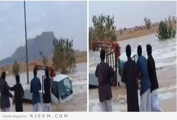 Photo of فيديو: شباب ينقذون مقيم مصري من الغرق.. وأحدهم يحتفل باطلاق النار من سلاح رشاش