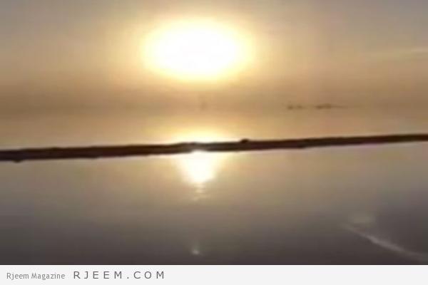 Photo of فيديو: مشهد نادر لتكوّن الجليد في روضة العكرشية وسط الصحراء