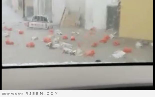 Photo of فيديو: السيول تحمل إسطوانات غاز في مشهد خطير وصافرات الإنذار تنظلق من جديد لتحذر السكان من السيول بعسير