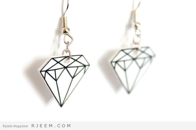 shrinky dinky diamond earrings diy tutorial