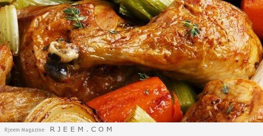 Photo of الدجاج المشوي بالشومر وعين جرادة