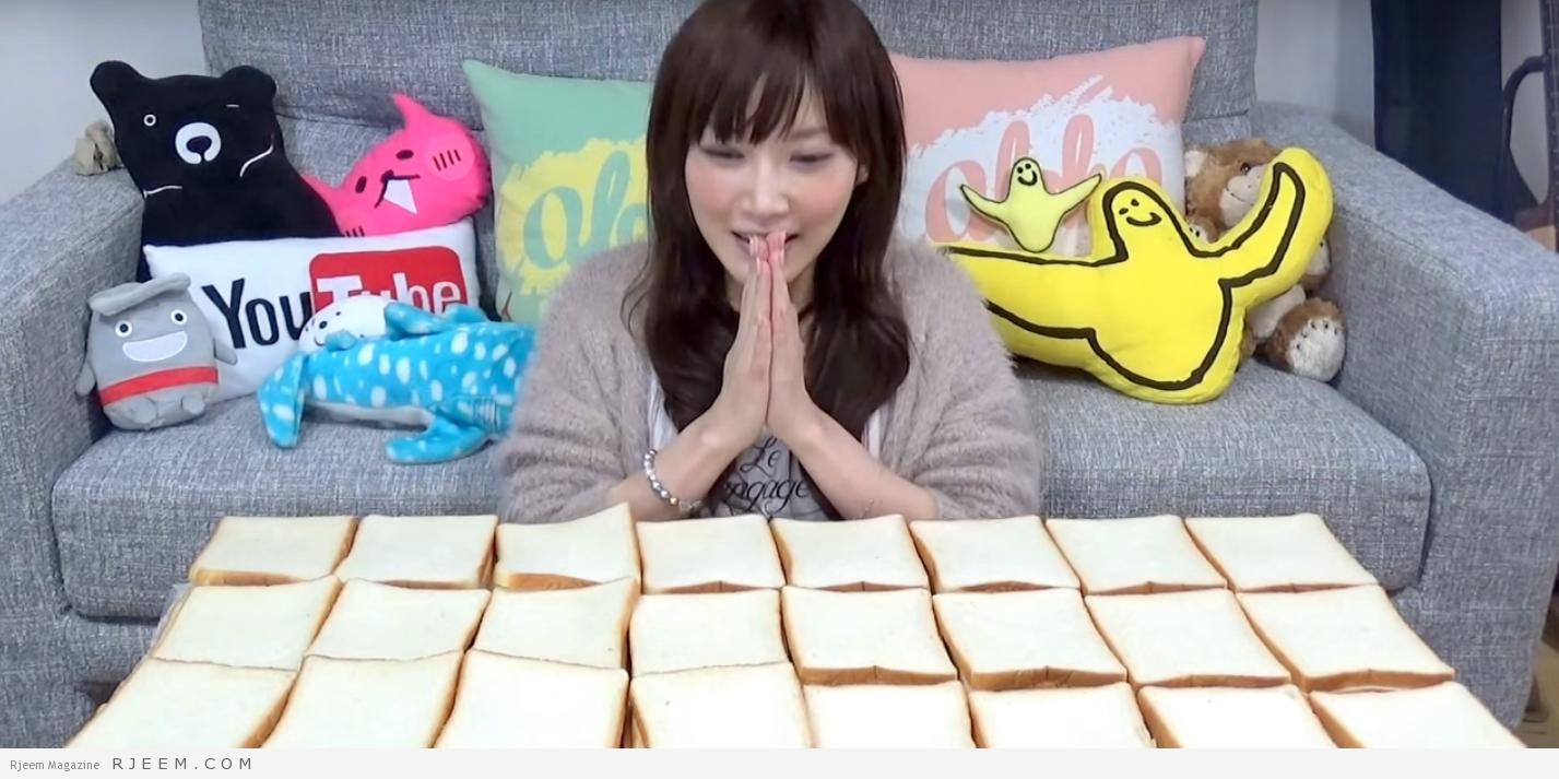 Photo of بالفيديو : يابانية تتناول كميات كبيرة من الطعام دون أن يزيد وزنها