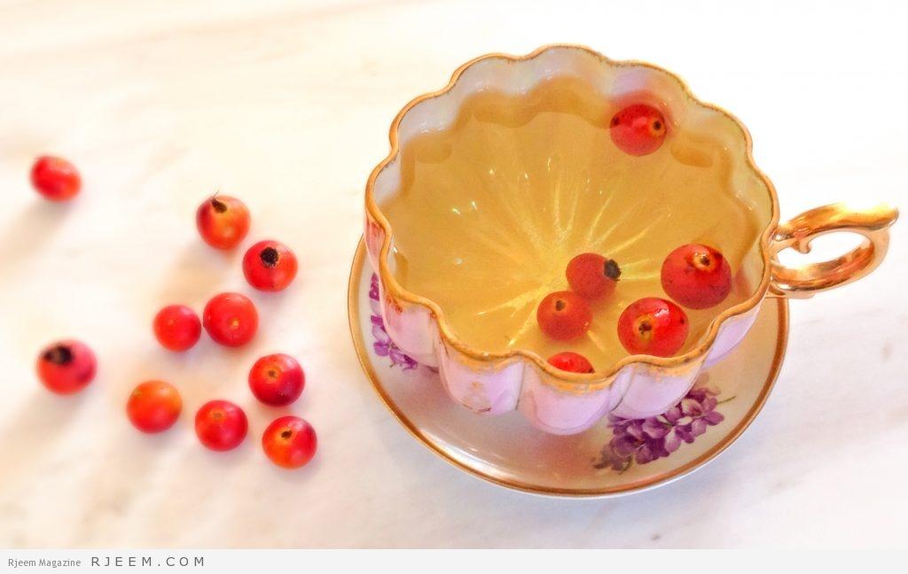 "Photo of فوائد شاي ثمرة الورد "" Rosehip Tea"""
