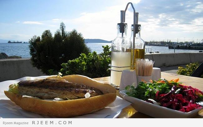 المأكولات البحرية في غوكجة آدا