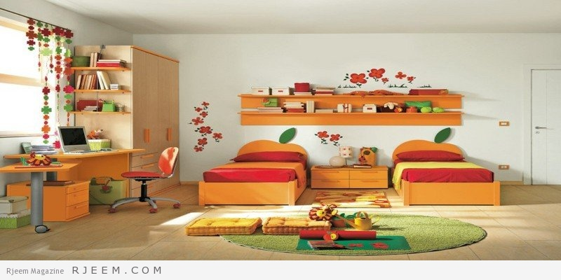 ديكورات غرف نوم بنات بألوان حديثة