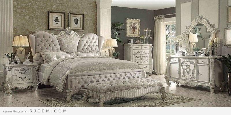 غرف نوم كلاسيك بتصميم فريد