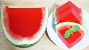 جيلي البطيخ اللذيذمع فوائد البطيخ المدهشة