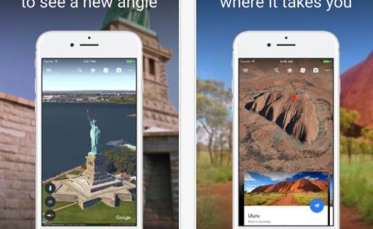 تطبيق جوجل إيرث الجديد متاح الآن للآيفون والآيباد