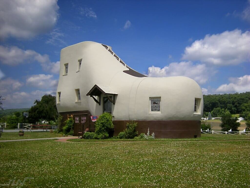 Shoe House, Pennsylvania // Hellam, Pennsylvania's Shoe House, originally used by shoe salesman as a guest house and giant advertisement, has been standing for 70 years and is still a popular tourist destination.