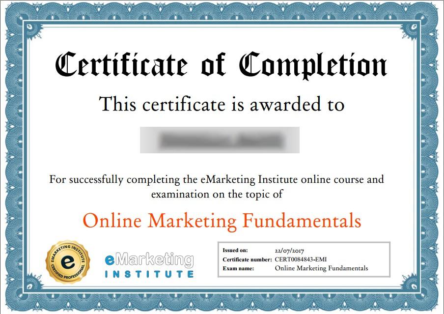 شهادة معترف بها في التسويق الإلكتروني
