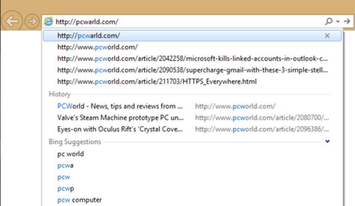 طريقة مسح المواقع من شريط العنوان في المتصفح
