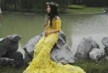 Photo of مراهقون صينيون يبتكرون فستانا من أوراق الشجر