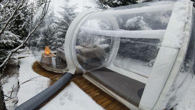 Photo of بالصور: تعرف على فندق الفقاعات الشفافة في آيسلندا