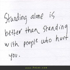 studying alone is better than studying with people who hurt you
