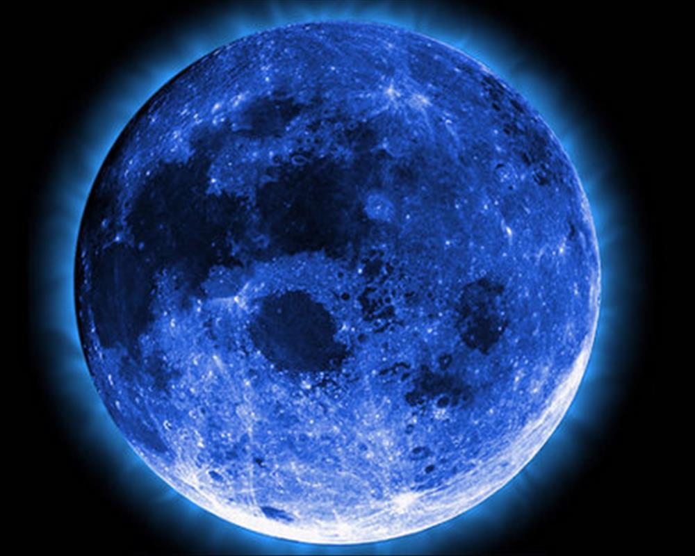 صورة القمر الازرق الدموي