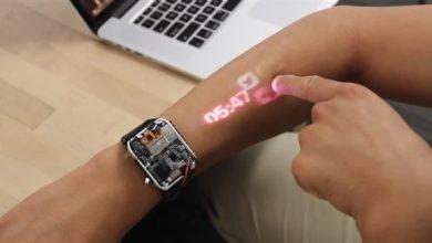 Photo of ساعة ذكية تحول ذراعك إلى شاشة لمسية