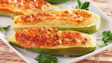 Photo of طبق الكوسة المحشية بالجبنة