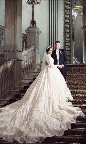 5dd6b7231 فساتين عرايس من تصميم إيمان صعب. فساتين زفاف جديدة