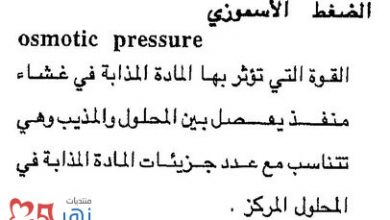 Photo of تعريف الضغط الاسموزي , ما هو الضغط الاسموزي