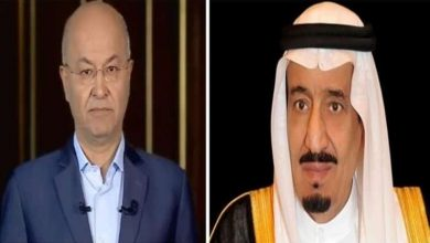 Photo of خادم الحرمين يجري اتصالين بالرئيس العراقي الجديد ورئيس وزرائه