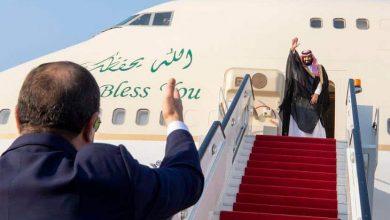 "Photo of بالصور: ولي العهد يغادر مصر و""السيسي"" يودعه في مطار القاهرة الدولي"
