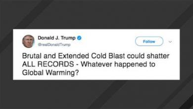 Photo of ترامب ساخراً بعد تدني الحرارة: ما الذي حدث لظاهرة الاحتباس الحراري؟